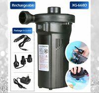 240V Rechargeable Bed Mattress Air Pump Electric Air CompressorDeflate AUS