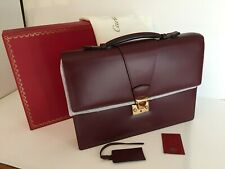 Cartier Business Office Bag, for Men , Burgundy Leather, New in Box