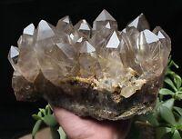 10.53lb New Find NATURAL Clear Golden RUTILATED QUARTZ Crystal Cluster Specimen