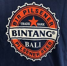 Bintang Bir Pilsener Beer Bali Cotton Bottle Cap Logo T-shirt Large Blue