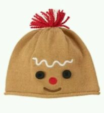 NWT Gymboree Holiday Shop Gingerbread Man Sweater Hat Sz: 12-18 mos