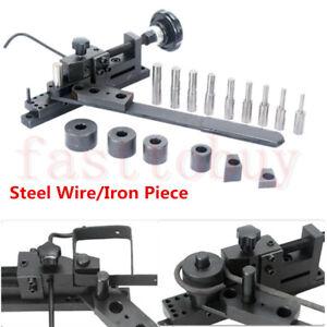 Bar Tube Pipe Bender Manual DIY Bending Metal Machine Curved Wire Steel Plate