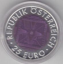 Österreich - 25 Euro 2005 Niob hgh - 50 Jahre Fernsehen - komplett - 65 Tsd.