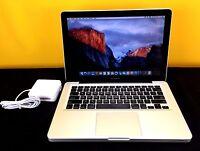 """13"""" Apple MacBook Pro 1TB SSD Hybrid Re-Certified 6GB OSx-2015 - 1 YEAR WARRANTY"""