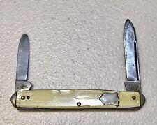 Vintage Antique Ken NY City 2-Blade Pocket Folding Knife Good Condition Old
