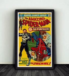 11x17 Amazing Spiderman #129 Comic Book Cover Replica Poster Print Punisher