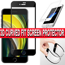 iPhone SE 2 2020 SCREEN PROTECTOR 3D CURVED FIT 9H FULL Cover Case Friendly