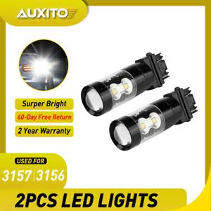 White 3157 LED Backup Reverse Light Bulbs for Chevy Silverado 1500 1999-2013 2PC
