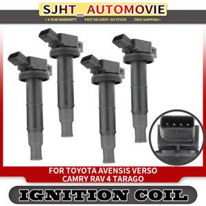 4x Ignition Coils for Toyota Avensis Camry RAV4 Tarago 1AZ-FE 2AZ-FE 2.0L 2.4L