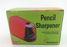 RadioShack Battery Operated Pencil Sharpener, 61-2593 Red Color New