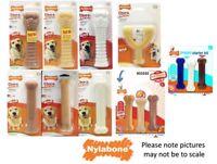 Nylabone Dura Chew Tough Strong Dog Bone Toys Chicken, Bacon  original Flavours
