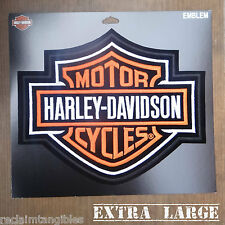 Harley Davidson Authentic Patch - Orange Classic Logo - XL Emblem Badge