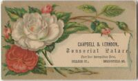 Campbell & Herndon Tonsorial Palace Springfield Missouri Victorian Trade Card