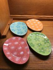New listing 4 Egg-Shaped Plates Silvestri by Demdaco 2011
