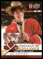 2020-21 UD Series 2 UD Canvas Canada Program of Excellence #C265 Sidney Crosby