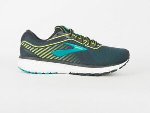 Brooks Ghost 12 Medium Width 110316 1D 018 Black Green Running Trainers