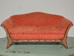 Dollhouse Miniature Sofa Couch 1:12 Vintage