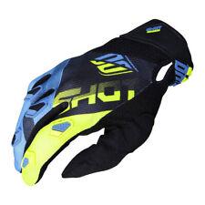 Shot Devo Ultimate Motocross Blue / Neon Yellow Adult Gloves - Small