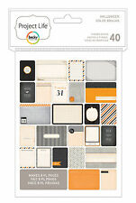 Becky Higgins PROJECT LIFE HALLOWEEN 40-PACK Themed Cards scrapbooking 380252