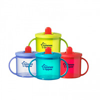 Tommee Tippee Essentials First Flip Top Handled Cup TWIN PACK - 4 Colours