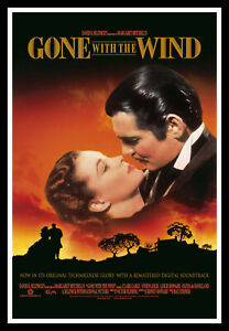 Gone With The Wind Original Movie Poster Print & Unframed Canvas Prints