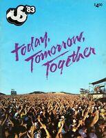 U2-BOWIE-MOTLEY CRUE-STEVIE NICKS-THE CLASH VAN HALEN-1983 US FESTIVAL PROGRAM