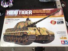 Tamiya 56007 King Tiger Porsche Turret Tank Rare Old Kit 1999