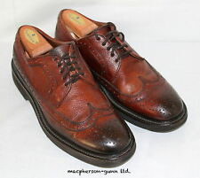 Doucal's Handmade Italy..Burnished Brown Casual Brogue Wing Tips...10 1/2..EUC