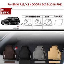 "Full Set 1/2""Thick Solid Nylon Interior Floor Carpet Mats For RHD BMW X3/F25"