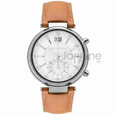 Michael Kors Authentic Watch MK2527 Sawyer Brown Leather Women's 39mm