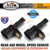 Rear ABS Wheel Speed Sensor For Holden VE Commodore WM Statesman Sedan Ute 2PCS