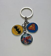 Unwanted SUPERHERO Multi-Charm KEYRING Spiderman Batman Superman Party Bag Gift