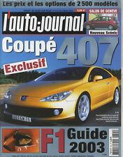 L'AUTO JOURNAL n°615 06/03/2003 BMW 330D LANCIA THESIS FOCUS RS HONDA ACCORD