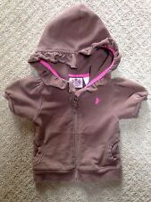 Baby Juicy Couture Short Sleeve Brown Hoodie Jacket-Size 12-18Mo.