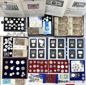Münzen Medaillen Konvolut Sammlung Silber Welt Gold Euro Satz Banknote Europa