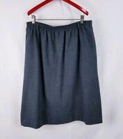 Vtg Orvis Women's Skirt Gray Size 20 Stretch Flare