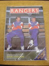 21/10/1987 Rangers v Gornik Zabrze [European Cup] . Thanks for viewing our item,