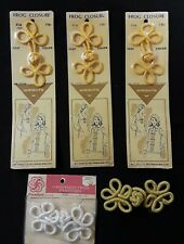 Lot of 5 Vintage Frog Knot Fasteners / Closures New - Wrights, Franken