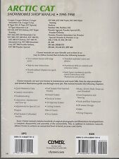 1990-1998 Clymer Arctic Cat Snowmobile Service Manual Ext, Zr, Zl New S836