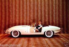 1961 Jaguar E Type Color Press Photo 8 x 10  Photograph