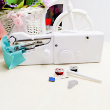 Portable Mini Cordless Hand Held Single Stitch Fabric Sewing Machine Home Travel