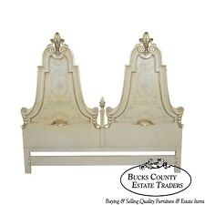Karges Vintage Hand Paint Decorated King Size Headboard