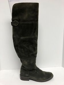 Frye Women's Shirley Otk, Over The Knee Boots-Fatigue, Size 7M.