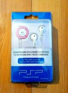 PSP, Headphones with remote control, NEW