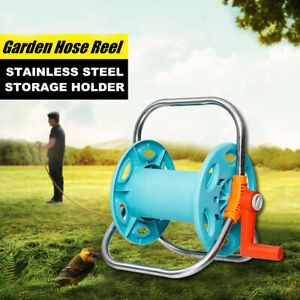 Portable Water Hose Reel Organizer Stand Cart Holder Outdoor Garden Yard