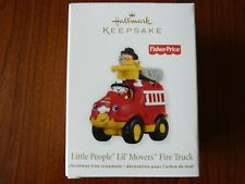 Hallmark Ornament - Fisher-Price Little People Lil' Movers Fire Truck 2011 New