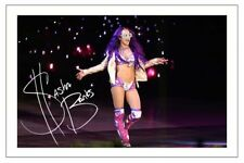 SASHA BANKS WWE WRESTLING DIVA SIGNED 6x4 PHOTO PRINT AUTOGRAPH
