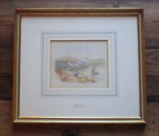 Robert Hollands Walker-Old Antique 19th Century Italian Watercolour-Lake Como