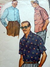 *Great Vtg 1950s Mens Shirt Sewing Pattern Size Small