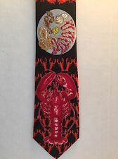 Lobster Neck Tie Keith Daniels You Crack Me Up Novelty Shrimp Clams Crab Seafood